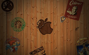 Picture background, Apple, Label