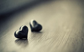 Wallpaper macro, wallpapers, table, heart, heart, hearts, Wallpaper, different, mood, h b, photo