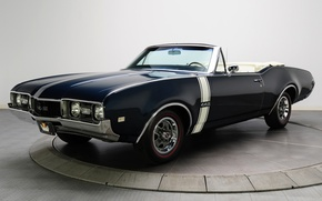 Picture background, convertible, convertible, the front, 1968, Muscle car, Convertible, Muscle car, 442, Oldsmobile, The Oldsmobile