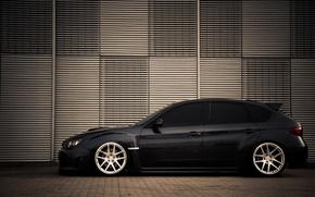 Picture Subaru, black, profile, impreza, Subaru, Impreza