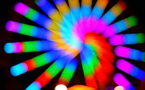 Picture light, lights, color, spiral, Blik
