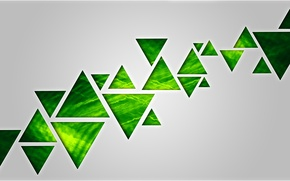 Picture background, triangles, green