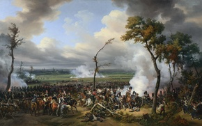 "Picture «The Battle of Hanau», ""Battle of Hanau"", oil, picture, canvas"