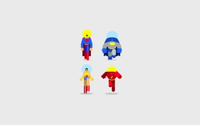 Picture Wonder Woman, Batman, Superman, flash, superheroes