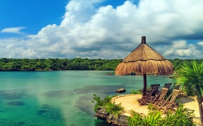 Picture sand, sea, beach, the sun, tropics, the ocean, shore, island, summer, beach, sea, ocean, coast, ...