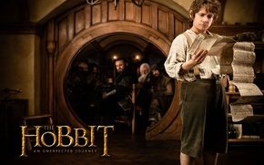 Wallpaper the door, actor, the hobbit, scroll, an unexpected journey, Bilbo Baggins, Martin Freeman, an unexpected ...