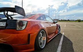 Picture Toyota, orange, Celica