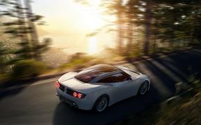 Picture White, Machine, Spyker, Sports car, In Motion, Ventator