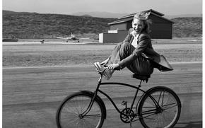 Wallpaper cate Blanchett, bike, Cate blanchett, smile, joy, actress
