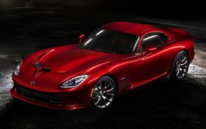 Picture red, Dodge, Dodge, supercar, twilight, Viper, the front, GTS, Viper, SRT