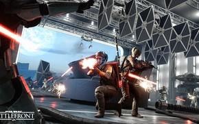 Picture game, Electronic Arts, Stormtroopers, DICE, Stormtroopers, TIE-Fighter, star wars battlefront, Twi'lek, Sullust, Sullust, Twi'leks