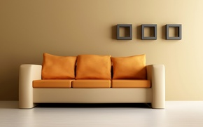 Picture design, house, style, sofa, comfort