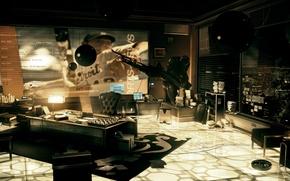Picture office, Deus Ex, Human Revolution, office sarif