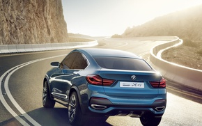 Picture road, Concept, BMW, crossover, X4