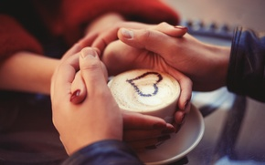 Picture love, heart, hands, pair, love, heart, romantic