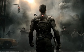 Picture soldier, smoke, tom clancys, back, rainbow six patriots