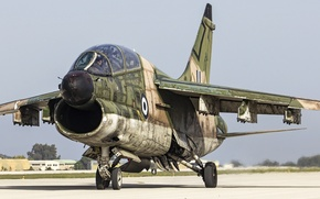 Picture cabin, attack, the airfield, A-7A, Corsair II