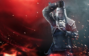 Picture Sword, Warrior, Beard, Armor, The Witcher, The Witcher, Geralt, CD Projekt RED, The Witcher 3: ...