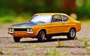 Picture auto, toy, car, ford, classic, model, Oldtimer, capri, car model