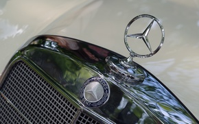 Wallpaper icon, Mercedes-Benz, the hood, brand