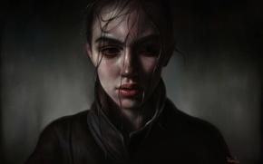 Wallpaper art, by elena sai, portrait, girl