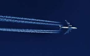 Picture the sky, the plane, passenger, Boeing 747