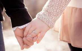 Picture girl, love, hands, ring, pair, male