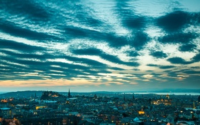 Picture the sky, landscape, home, Scotland, panorama, Edinburgh
