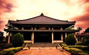 Wallpaper temple, Japan