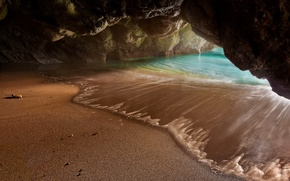 Picture sand, sea, beach, water, rocks, the grotto