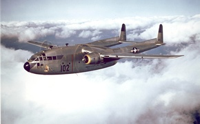 Wallpaper Boxcar, Flying, C-119, The plane