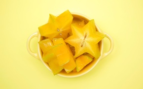 Picture Cup, carambola, Yellow cubed