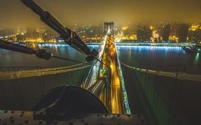 Picture bridge, city, the city, the rise, New York, Manhattan, bridge, new york, manhattan, climb