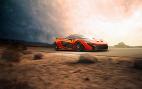Picture McLaren, Orange, Car, Speed, Front, Beauty, Supercar