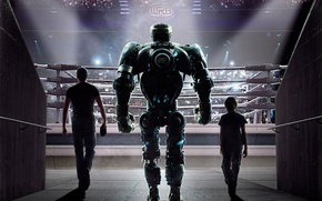 Picture tribune, movie, Real steel, robot, the film, Hugh Jackman, the ring, Hugh Jackman, Real Steel, ...