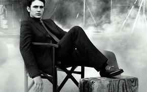 Picture smoke, costume, tie, actor, male, James Franco, James Franco