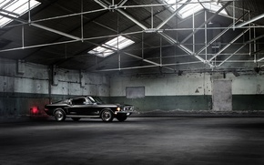 Picture Fastback, Car, Muscle, Classic, Black, Warehouse, Mustang, Ford