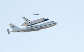 Wallpaper Boeing, Flight, The sky, Boeing, Shuttle, Endeavour, Endeavour, NASA, 747, NASA, The plane