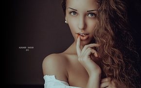 Wallpaper hand, face, Alexander Savichev, photography, girl, photographer, girl, lips, photographer