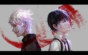 Picture blood, art, monsters, men, Tokyo Ghoul, Ken Kanek, Sangrde
