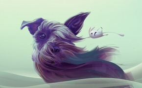 Picture the wind, dog, art, animal