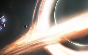 Picture space, the film, ship, interstellar, interstellar, Nolan, a wormhole