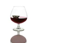 Picture boat, wine, glass