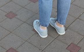 Picture summer, feet, shoes, sneakers, jeans, sneakers, 2016