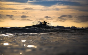 Picture the ocean, sport, surfing, the time