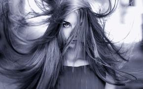 Picture hair, portrait, stroke, Nadya