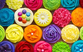 Picture colorful, cake, colorful, dessert, sweet, sweet, dessert, Cupcakes, Cupcakes