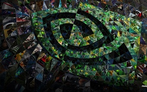 Picture abstraction, pattern, nvidia, logo