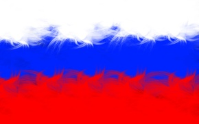 Picture white, blue, red, paint, Flag, Putin, Russia, tricolor, Patriot