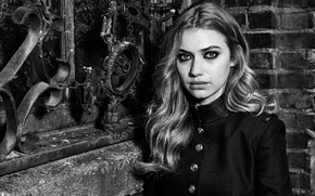 Picture actress, black and white, photoshoot, Imogen Poots, Imogen Poots, Who What Wear, Robert Ascroft, online …